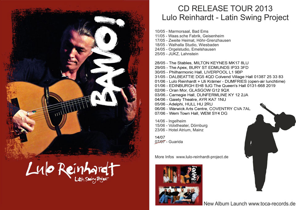 Lulo Reinhardt Swing Project - CD Releas Tour 2013 - Bawo